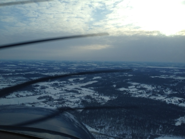 Ohio in Winter from the Air