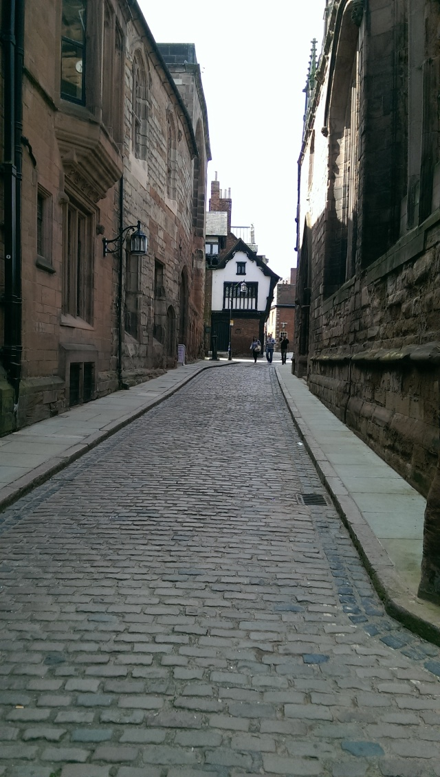 Street Outside St. Mary's Guildhall, Coventry England