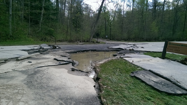 Hinckley Metropark Road After April 2014 Storm