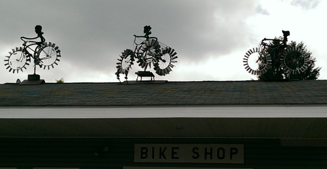 Bike Sculptures on Bike Shop Great Allegheny Passage