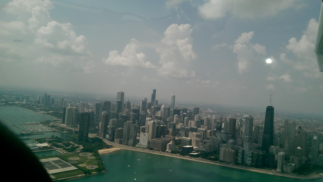 Chicago Skyline from the Air