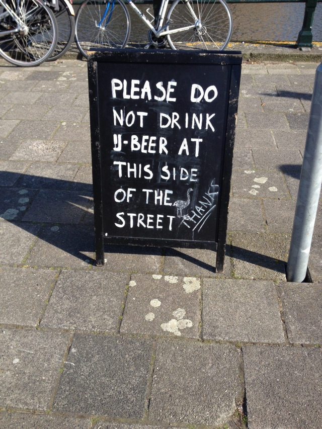 Sign at Brouwerijhe'T IJ